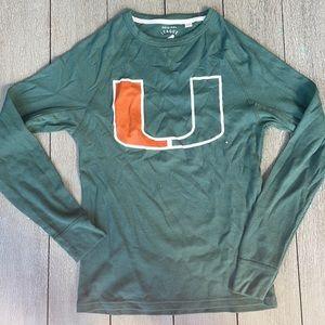 University of Miami long sleeve t shirt